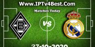IPTv Gladbach Real Madrid UEFA -10-2020 By IPTV4BEST