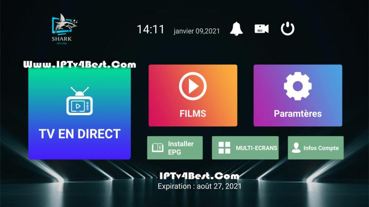 Shark IPTv Pro APK With Activation Code 2021 By IPTV4BEST.COM
