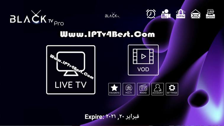 BLACK Tv Pro APK 2021- IPTV4BEST.COM