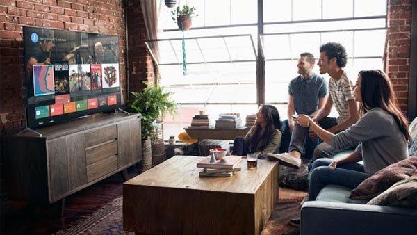 TV android tv sala de estar
