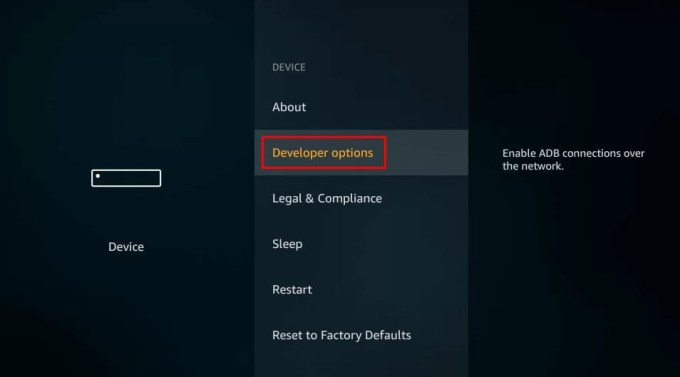 developer options