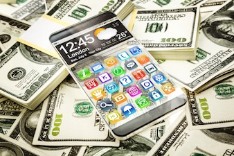 smartphone-money-dollar
