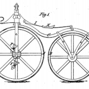 """From U.S. Patent No. 59915, simply titled """"Velocipede."""""""