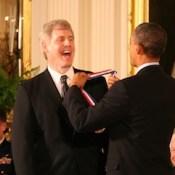 Steve Sasson with President Obama.