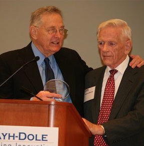 Senator Bayh with Howard Bremer, Dec. 2, 2010.
