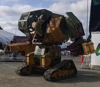"""MegaBot Mark 2 at Maker Faire"" by Low Voltage Labs. Licensed under CC BY-SA 2.0."
