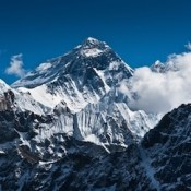 Mount Everest peak.