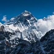 Mount Everest peak.