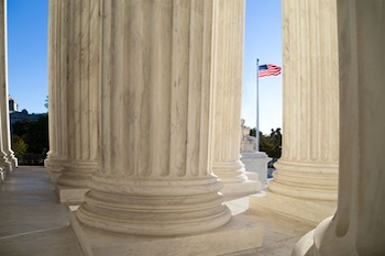 Front terrace of the Supreme Court of United States.