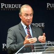 Purdue University President Mitch Daniels.