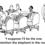 Elephant in the room.