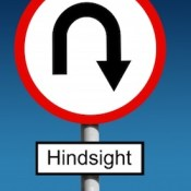 Hindsight road sign