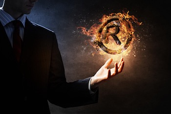 Burning trademark