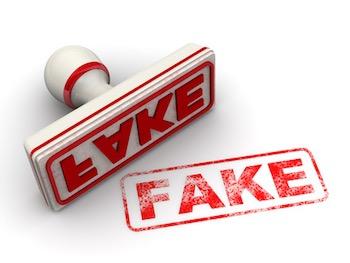 Fake. seal and imprint