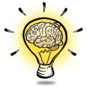 Brainy lightbulb