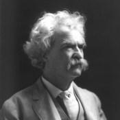 Mark Twain, circa 1907. Public domain.