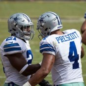 """Ezekiel Elliott, Dak Prescott"" by Keith Allison. Licensed under CC BY-SA 2.0."