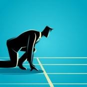 Businessman race