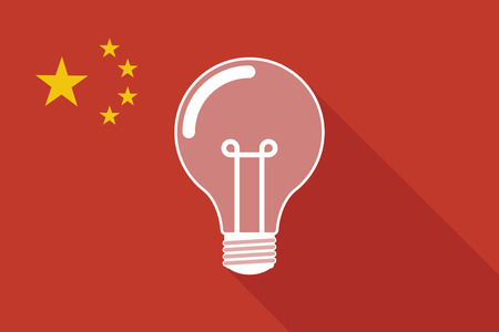 Utility Model Examination in China is Quietly Changing 41356191 - illustration of a china long shadow flag with a light bulb