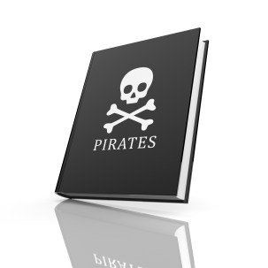 IP piracy - https://depositphotos.com/30014897/stock-photo-book-with-pirates-flag.html