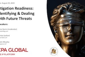 Litigation Readiness: Identifying & Dealing with Future Threats – August 29, 2019