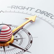 United States High Resolution Right Direction Concept