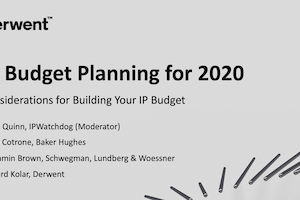 Planning for 2020: Considerations for Building your IP Budgets – November 19, 2019