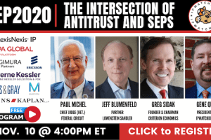 SEP2020 – The Intersection of SEPs and U.S. Antitrust – Nov 10, 2020