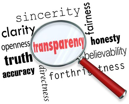 Transparency, trust - https://depositphotos.com/39072457/stock-photo-transparency-word-magnifying-glass-sincerity.html