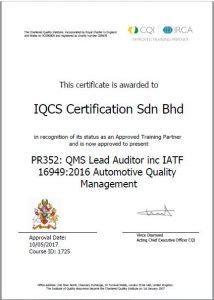 QMS ISO 90012015 Lead Auditor Inc IATF 169492016  IQCS
