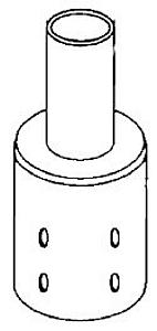 RAB Lighting BRAD4 Pole Adaptor for 2-3/8