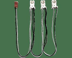 RAB Lighting SOCKET-T8-T-3-KITS 1 Switch and 3 Tall Socket