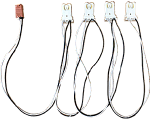 RAB Lighting SOCKET-T8-T-4-KITS 1 Switch and 4 Tall Socket