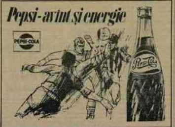 Reclamă la Pepsi-Cola din anul 1967