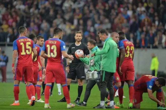 Steaua si Dinamo s-au intalnit, duminica 10 Aprilie 2016, intr-o partida contand pentru etapa 6 a Play-Off-ului Ligii I la fotbal. ALEXANDRU DOBRE / MEDIAFAX FOTO