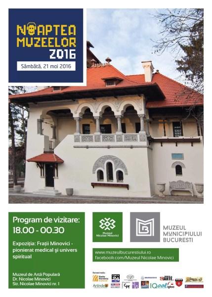 Afis NM Muzeul Nicolae Minovici