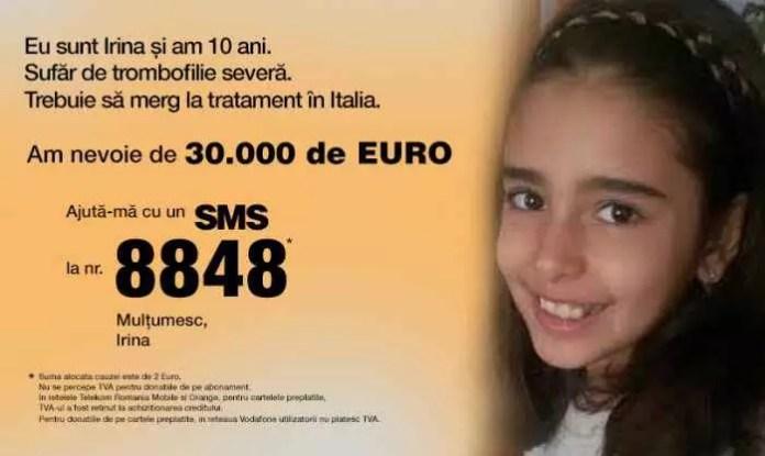 Să o ajutăm pe Irina Aldea să se trateze în Italia