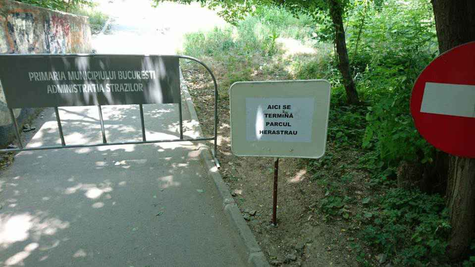 Accesul pe podul feroviar din parcul Herăstrău este interzis