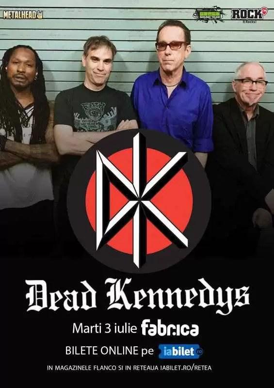 Concert Dead Kennedys în premieră în România pe 3 iulie!