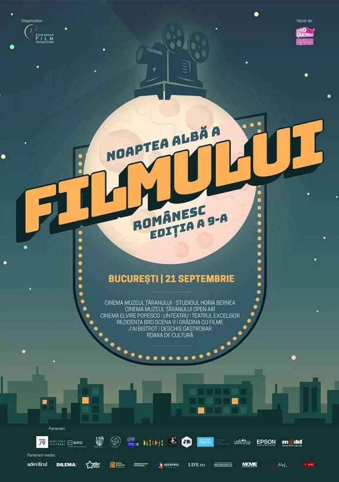 Vine Noaptea Albă a Filmului Românesc – producții premiate, premiere și invitați speciali în 9 locații din București