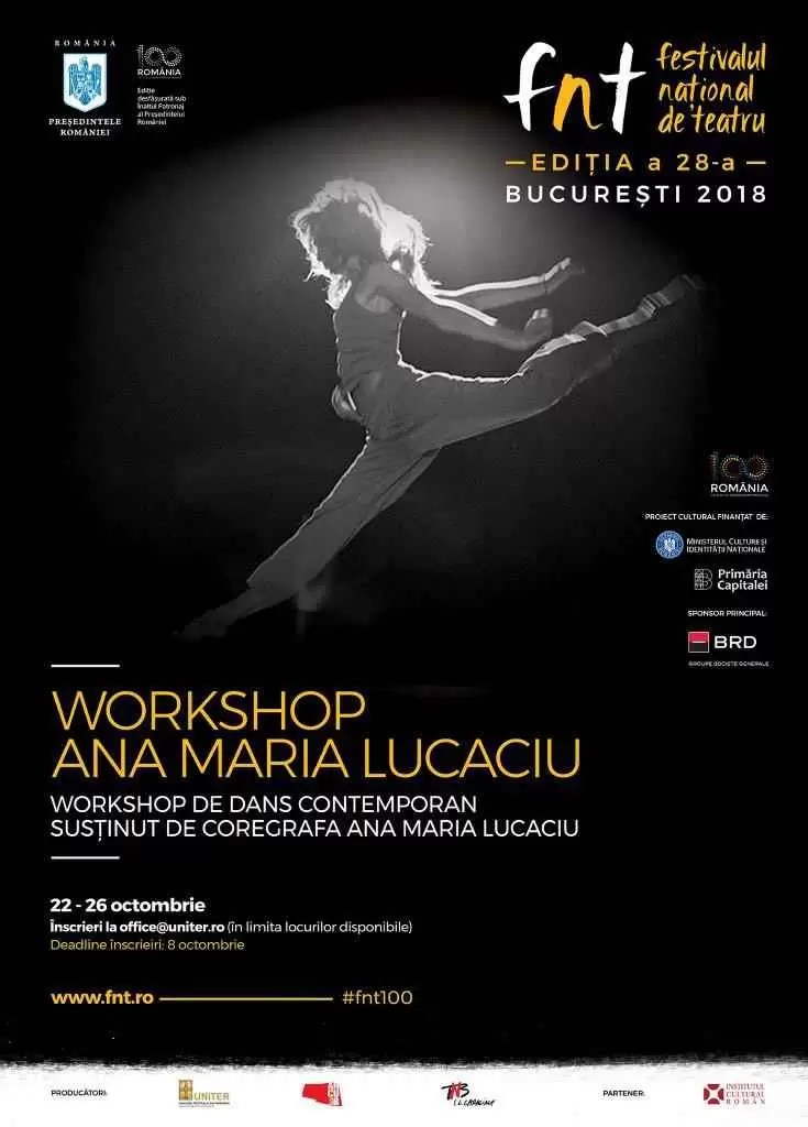 Workshop de dans contemporan cu Ana Maria Lucaciu