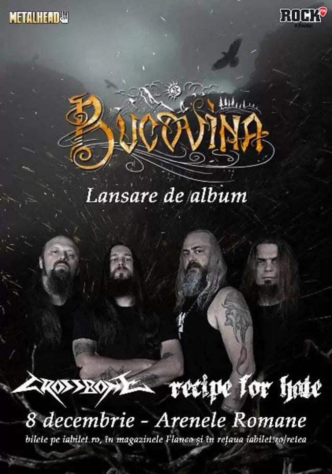 Recipe for Hate și Crossbone sunt primele formații invitate la concertul Bucovina de la Arene