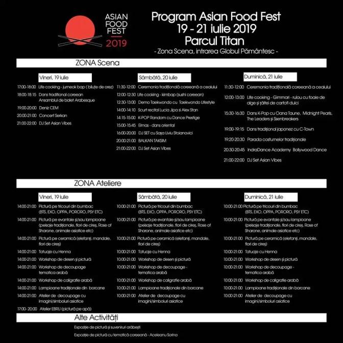 program Asian Food Fest afiș