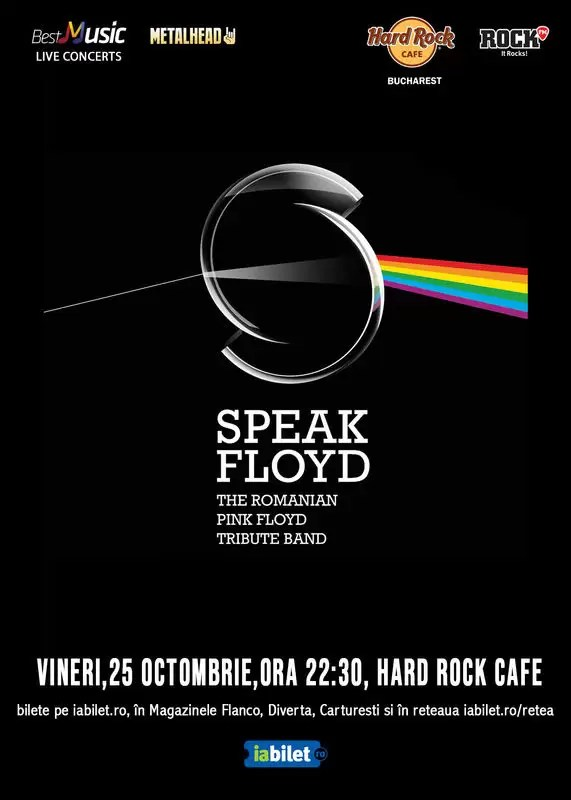 Tribut Pink Floyd cu Speak Floyd la Hard Rock Cafe pe 25 octombrie