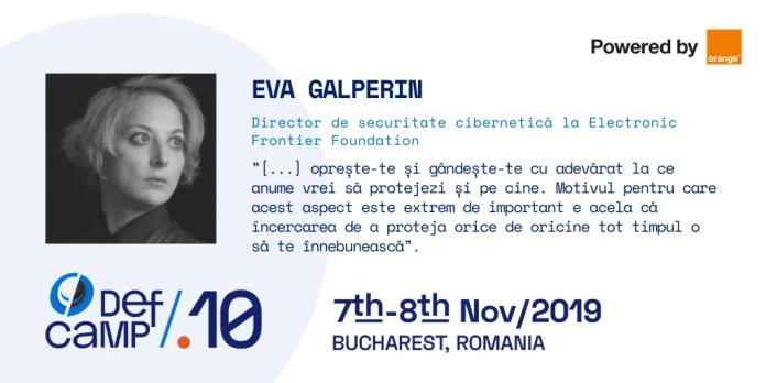 Eva Galperin DefCamp