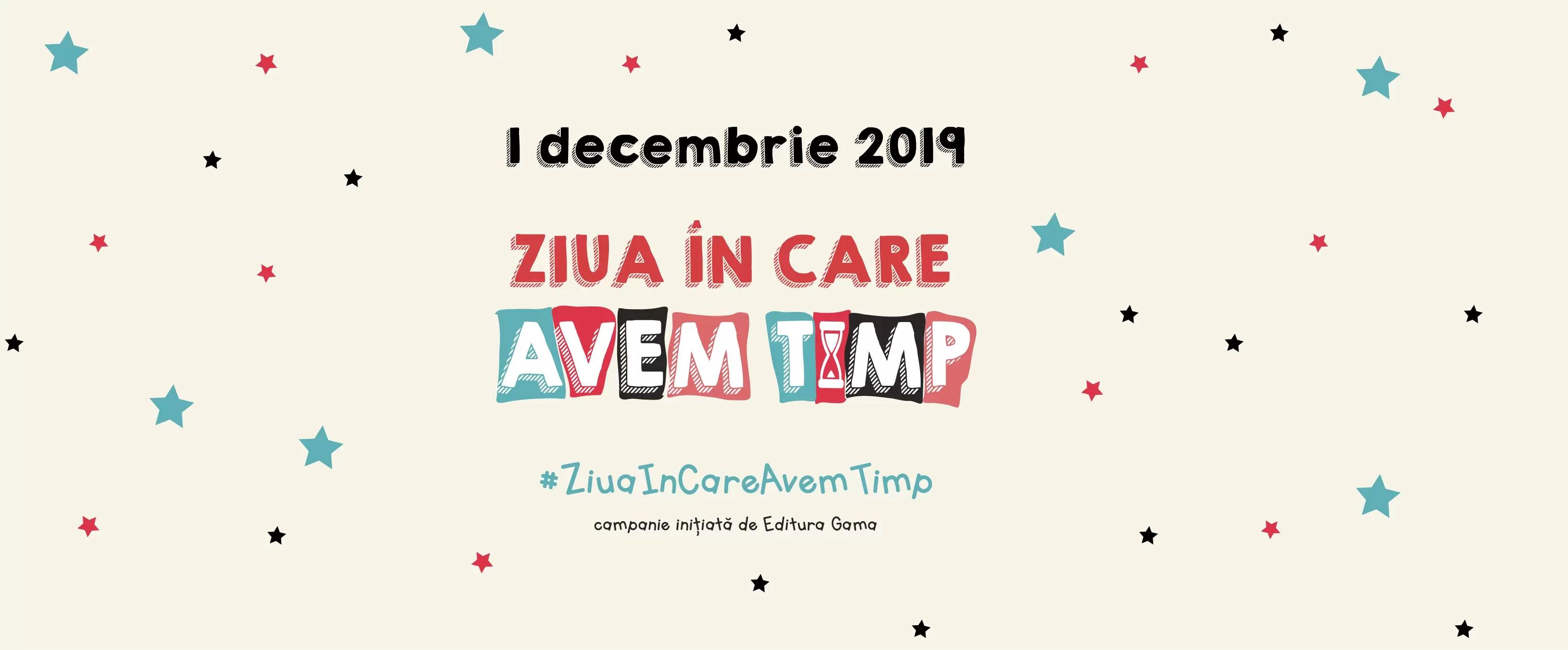 Campania Ziua În care avem timp revine pe 1 decembrie 2019