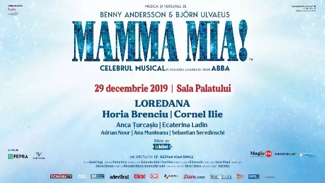 "Musicalul ""MAMMA MIA! afis """