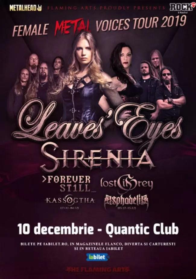 The Female Metal Voices Tour la Bucuresti: Program si Reguli de Acces afiș