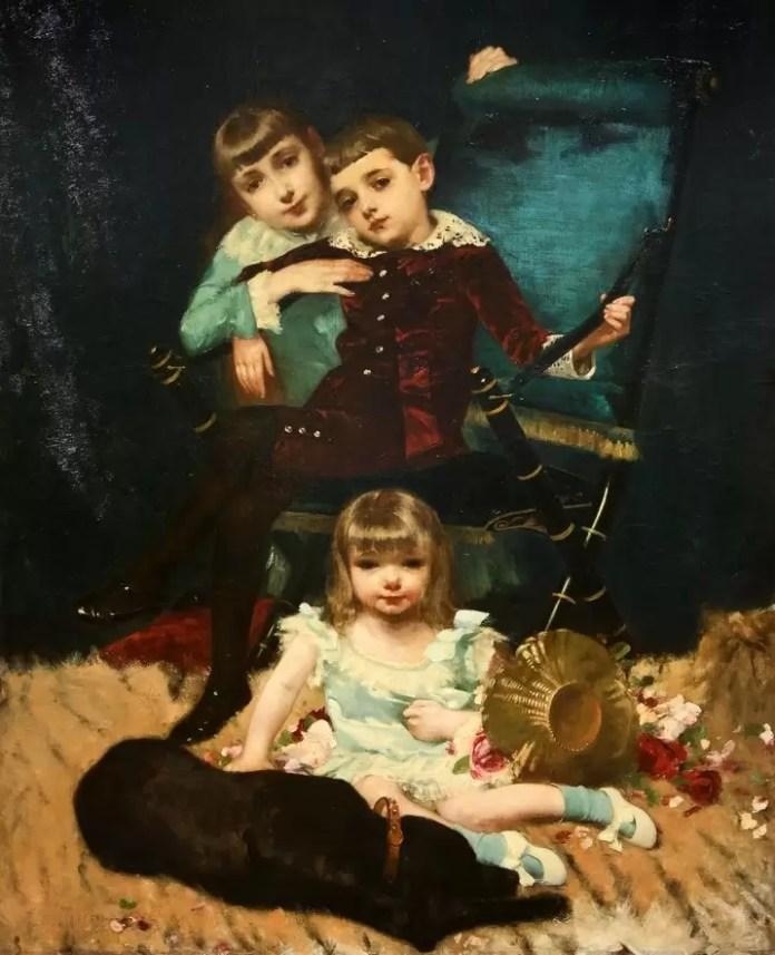 Muzeul Național de Artă G.D.Mirea - Copiii familiei Goodwin afiș