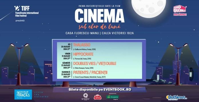 Cinema sub clar de lună W3 wide afiș